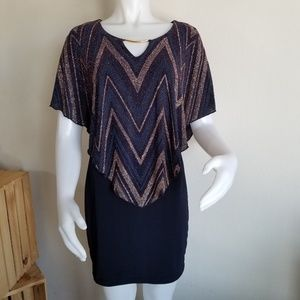 Enfocus Studio size 4 Navy blue sparkly dress